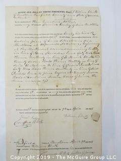 Old Paper: 1838 Will Filed in Fairfield, CT.