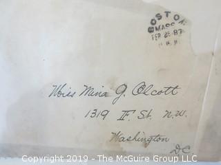 "Old Paper: 1888 ""Pew Rent"" addressed to F.V. McAllister; Madison Ave. Methodist Church, NY, NY"
