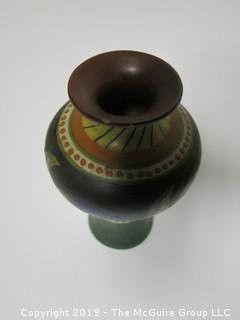 "Luxor Vase, Gouda Pottery; 7 3/4"" tall"