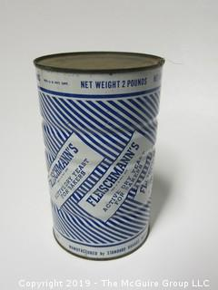 NOS Fleischmann's 2 lb. can of yeast