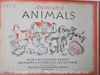 "Children's Book: ""Animated Animals"", by Edward Ernest; pub. by Saalfield; 1943"