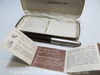 "Parker ""51"" fountain pen, with instruction book and original case"