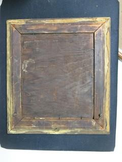Early Victorian Art in Gold Gilt Prism Frame; outside dimensions; 15 1/2 x 17 1/2""