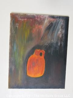 """Jug""; acrylic on canvas; unsigned; 11 x 14"""