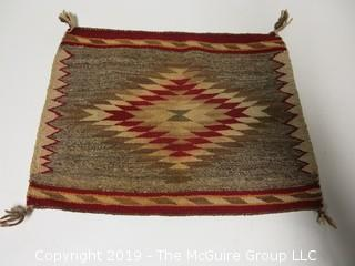 Navajo Single Riding Blanket; 24 x 24""
