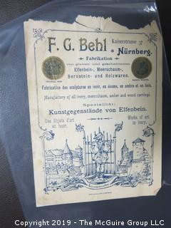Collection of Ephemera including illustrated European receipts