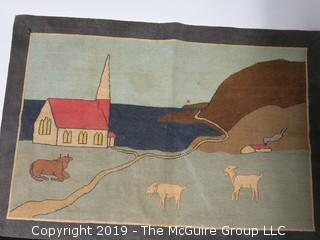 """Handwoven Rug; made in Labrador, Newfoundland; 26 1/2 x 39"""""""