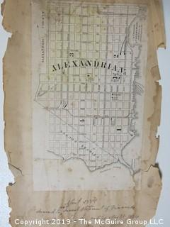 Map of Alexandria, VA; extracted from City publication; 1884