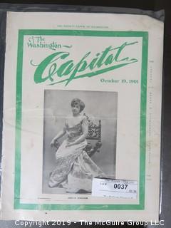 """Washington's """"Capital"""" Society Magazine; 1901"""