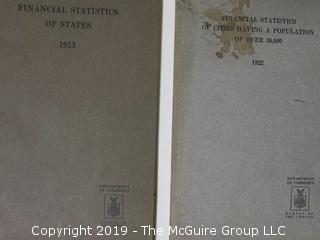 1922 and 1923 Department of Commerce statistical books