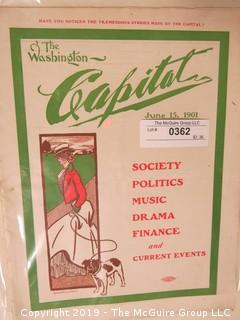 "Washington's ""Capital"" Society Magazine; 1901"