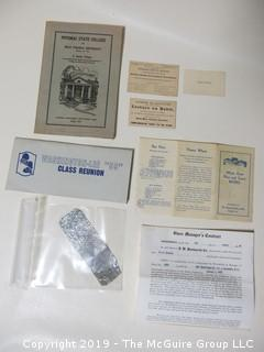 Collection of Ephemera and lead foil
