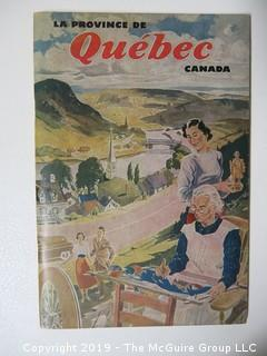 M-C Tourist Pamphlet of Quebec;
