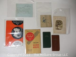 Old Paper; including pocket diaries from 1956 and 57