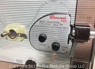 Brownie 500 Movie Projector; Model A; 8mm; with original box