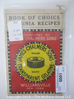 1916; Gelatine; James Chalmers Sons..............................ALL ITEMS SHIP FREE