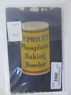 1921; Dr. Price's Phosphate Baking Powder; Chicago............................................................ ALL ITEMS SHIP FREE