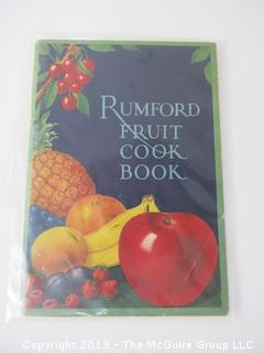 1927; Rumford Fruit Cook Book..........ALL ITEMS SHIP FREE