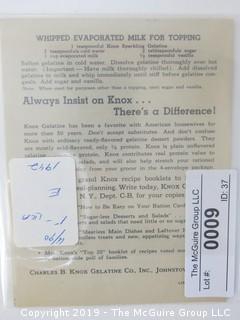 1942; Knox Gelatine Co.