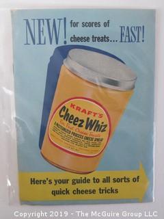 c 1950; Kraft's Cheez Whiz