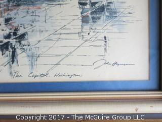 "Framed print of the U.S. Capitol; 18 x 24"""
