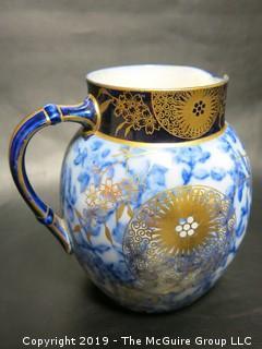 English Doulton Burslem Hand Painted Ceramic Pitcher