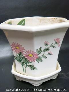 Hand Painted Ceramic Planter
