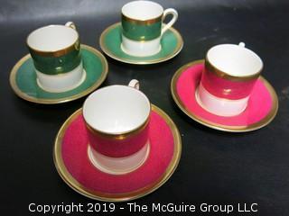 Set of (4) Coalport Demi-tasse Cups and Saucers