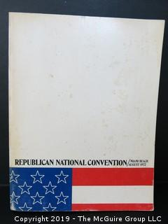 The Official Program of The Republican National Convention, Miami, 1972