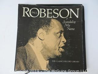 Vinyl Record Set: Paul Robeson - Scandalize My Name; 1976