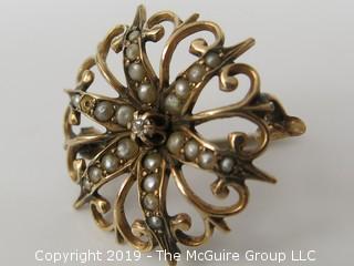 14k gold pin; 2 grams
