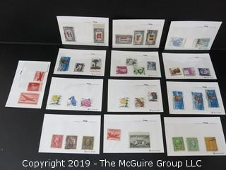 Assortment including collectible stamps