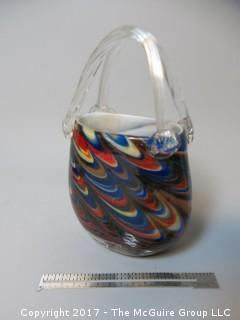 Collection including hand blown art glass