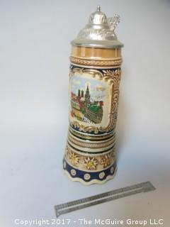 German Stein; with Swiss music box