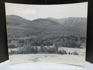 """7 1/2"""" x 9 1/2"""" professional B&W photo, circa 1940, Appalachian Mountain Trail, labeled """"Starting Up Madison"""", signed lower right"""
