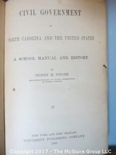 "Collection of books including ""Negro Soldiers of the Spanish American War"""