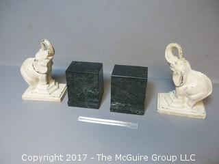(2) pair of bookends