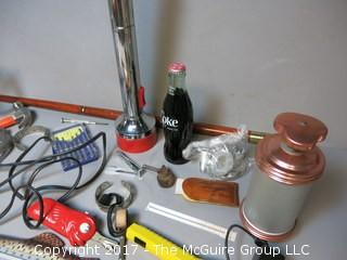 Collection including tools, thermometer, cake decorating set and flashlights