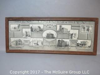 Framed photograph of Shaw University