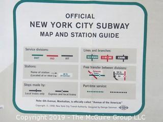 Collection of NY Ephemera including 1966 NYC Subway map