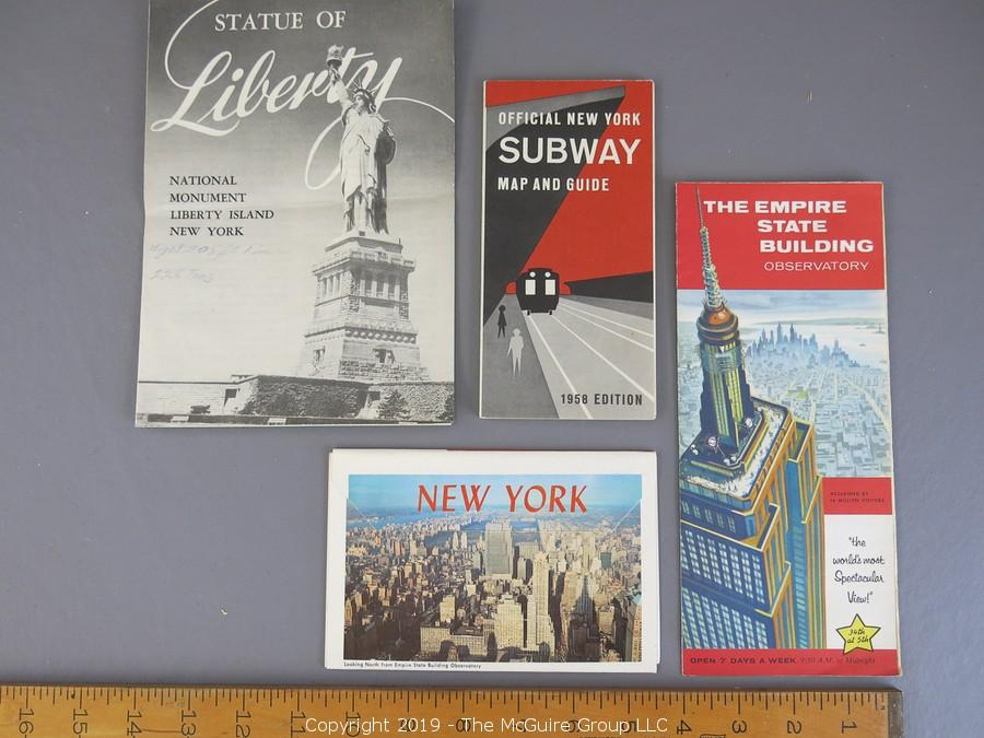 New York City Subway Map Brochure.The Mcguire Group Llc Auction Curated Collection Of Vintage
