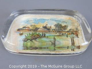1893 Columbian Exposition glass paperweight