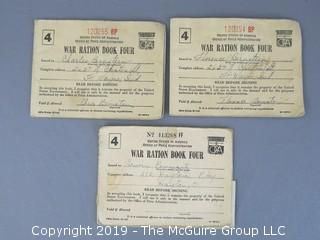 WW II Ration Books with Coupons