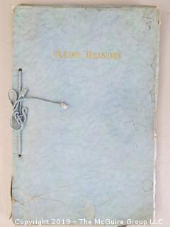 Wedding Book; circa 1920's