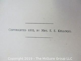"1892 Cookbook: ""Science in the Kitchen"" by Mrs. E.E. Kellogg - WILL SHIP ALL ITEMS"