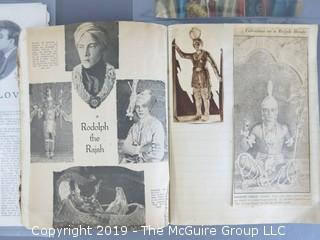 Scrapbook featuring all things Rudolph Valentino