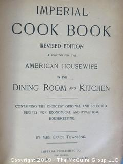 Book Title: 1894 Imperial Cookbook by Mrs. Grace Townsend - WILL SHIP ALL ITEMS
