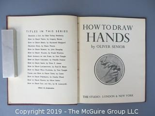 "Book Title: ""How To Draw Hands"" by Oliver Senior; 2nd Impression, April 1945"