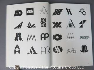 """Book Title: """"Trademarks and Symbols, Vol. 1: Alphabetical Designs""""; authored by Yasaburo Kuwayama; 1973; published by Van Nostrand Reinhold Co., New York"""