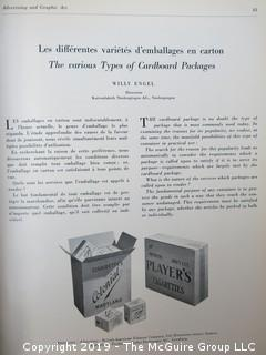 "Book Title: ""Advertising and Graphic Art; Special Edition; Packaging and Window Display""; published by The Review of Advertising and Graphic Art in Switzerland; 1947"